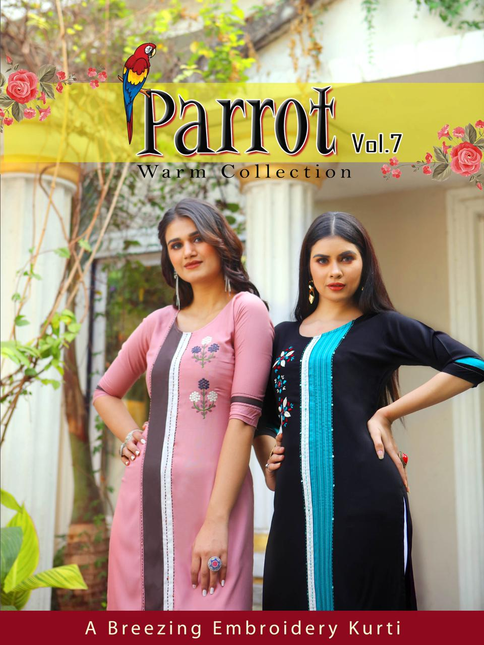 Aradhna Parrot Vol 7 Kurti Wholesale Catalog 11 Pcs 2 - Aradhna Parrot Vol 7 Kurti Wholesale Catalog 11 Pcs