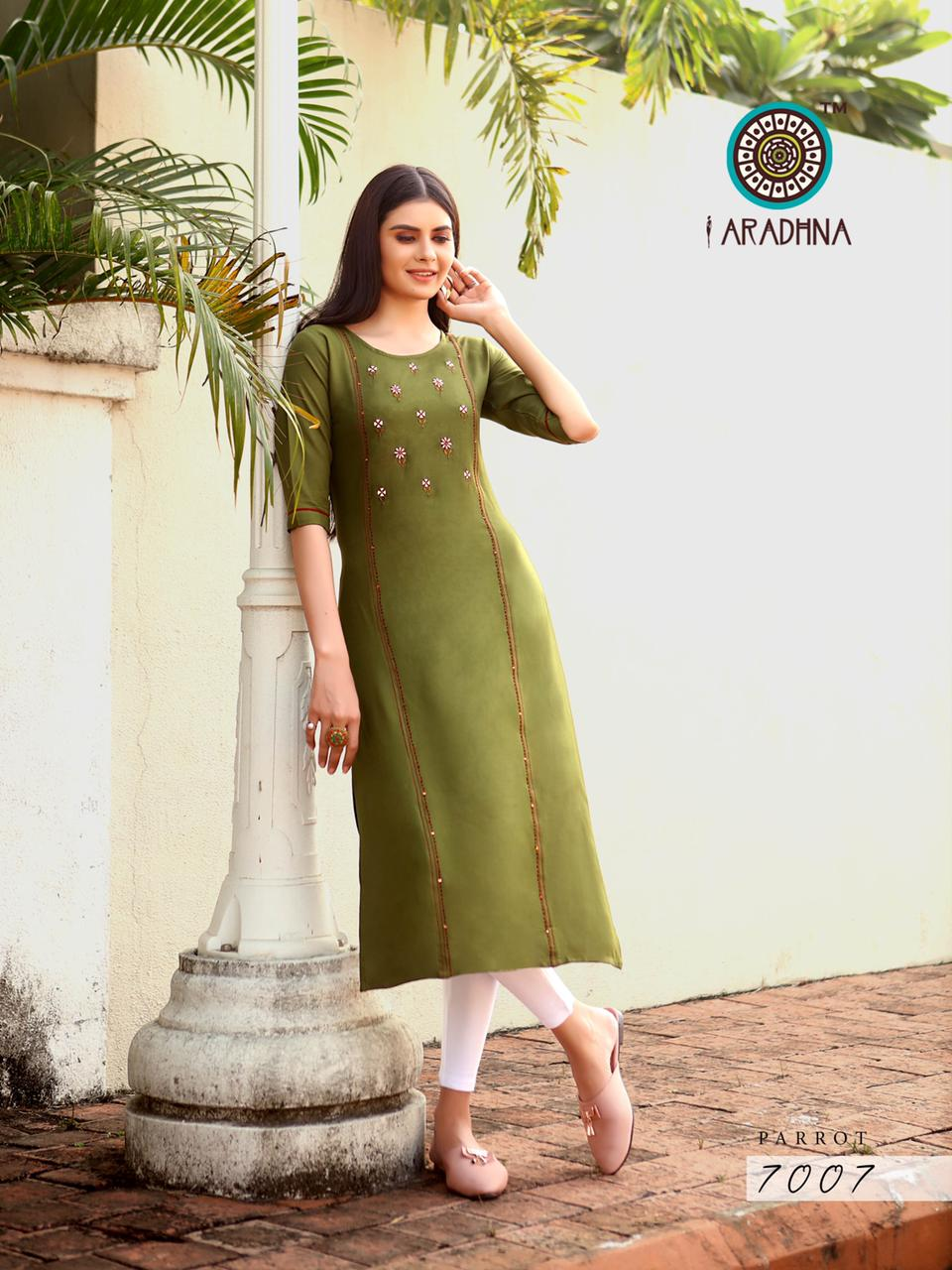Aradhna Parrot Vol 7 Kurti Wholesale Catalog 11 Pcs 7 - Aradhna Parrot Vol 7 Kurti Wholesale Catalog 11 Pcs