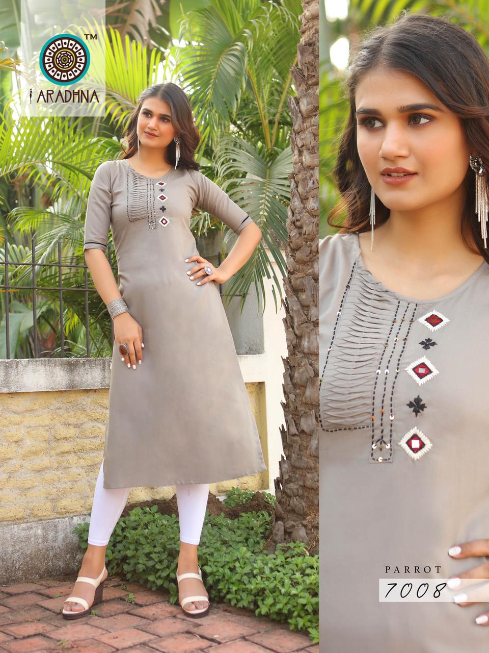 Aradhna Parrot Vol 7 Kurti Wholesale Catalog 11 Pcs 8 - Aradhna Parrot Vol 7 Kurti Wholesale Catalog 11 Pcs