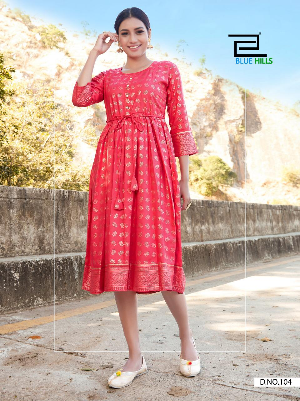 Blue Hills Payal Kurti Wholesale Catalog 10 Pcs 4 - Blue Hills Payal Kurti Wholesale Catalog 10 Pcs