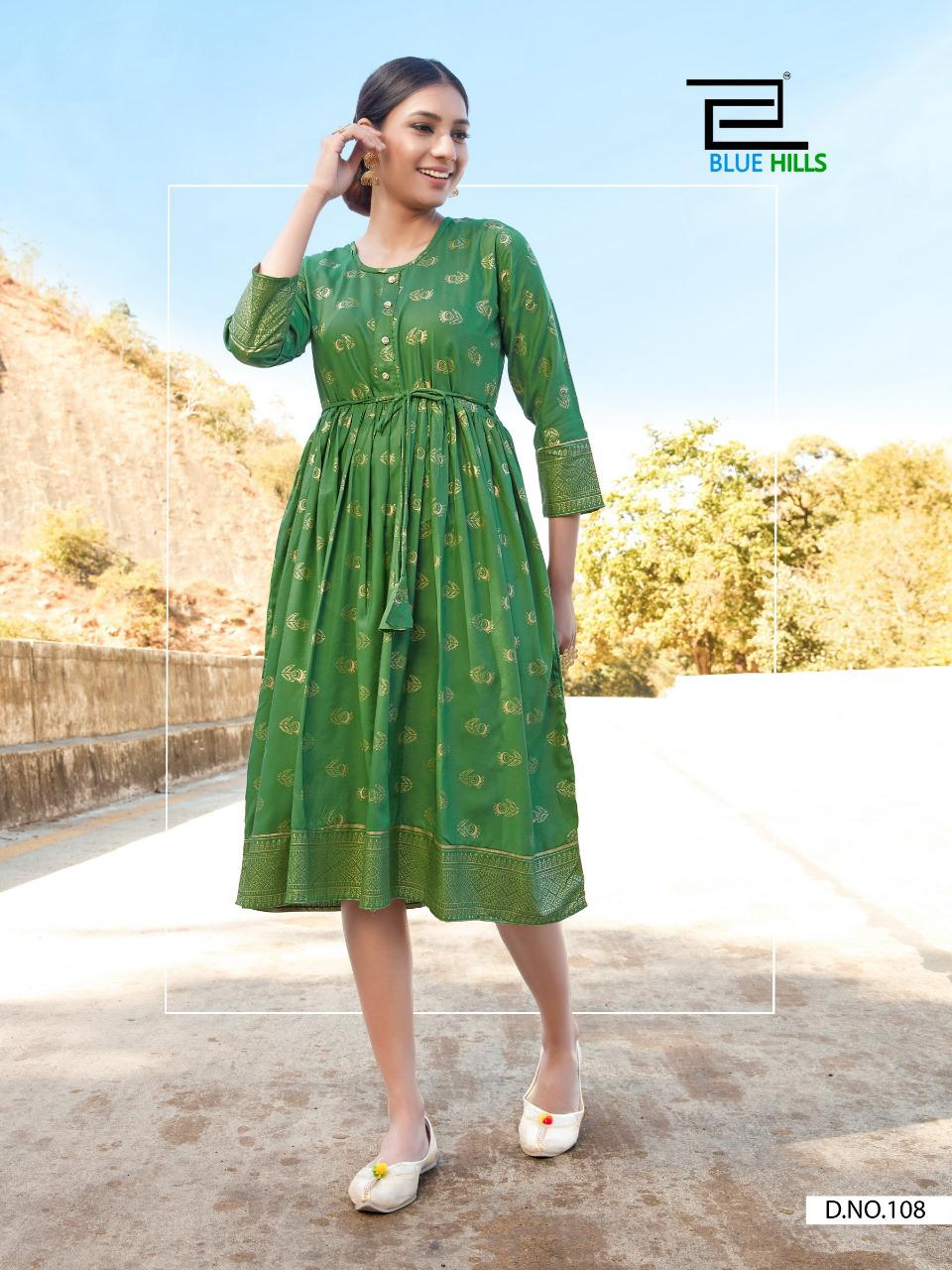 Blue Hills Payal Kurti Wholesale Catalog 10 Pcs 8 - Blue Hills Payal Kurti Wholesale Catalog 10 Pcs