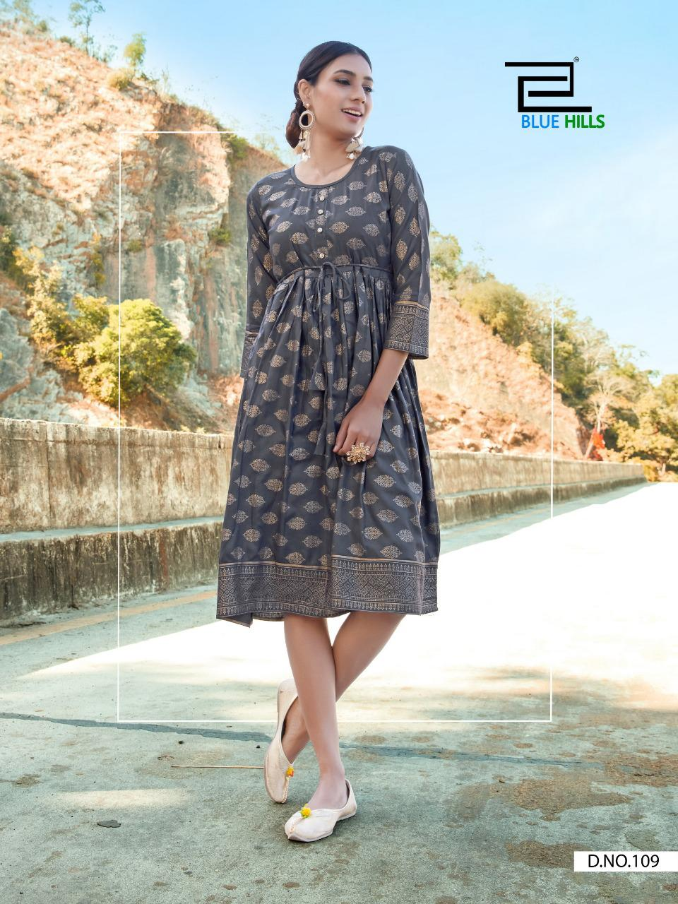 Blue Hills Payal Kurti Wholesale Catalog 10 Pcs 9 - Blue Hills Payal Kurti Wholesale Catalog 10 Pcs