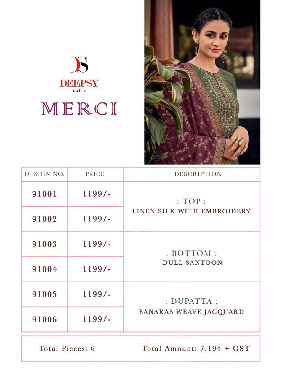 Deepsy Merci Salwar Suit Wholesale Catalog 6 Pcs 14 - Deepsy Merci Salwar Suit Wholesale Catalog 6 Pcs