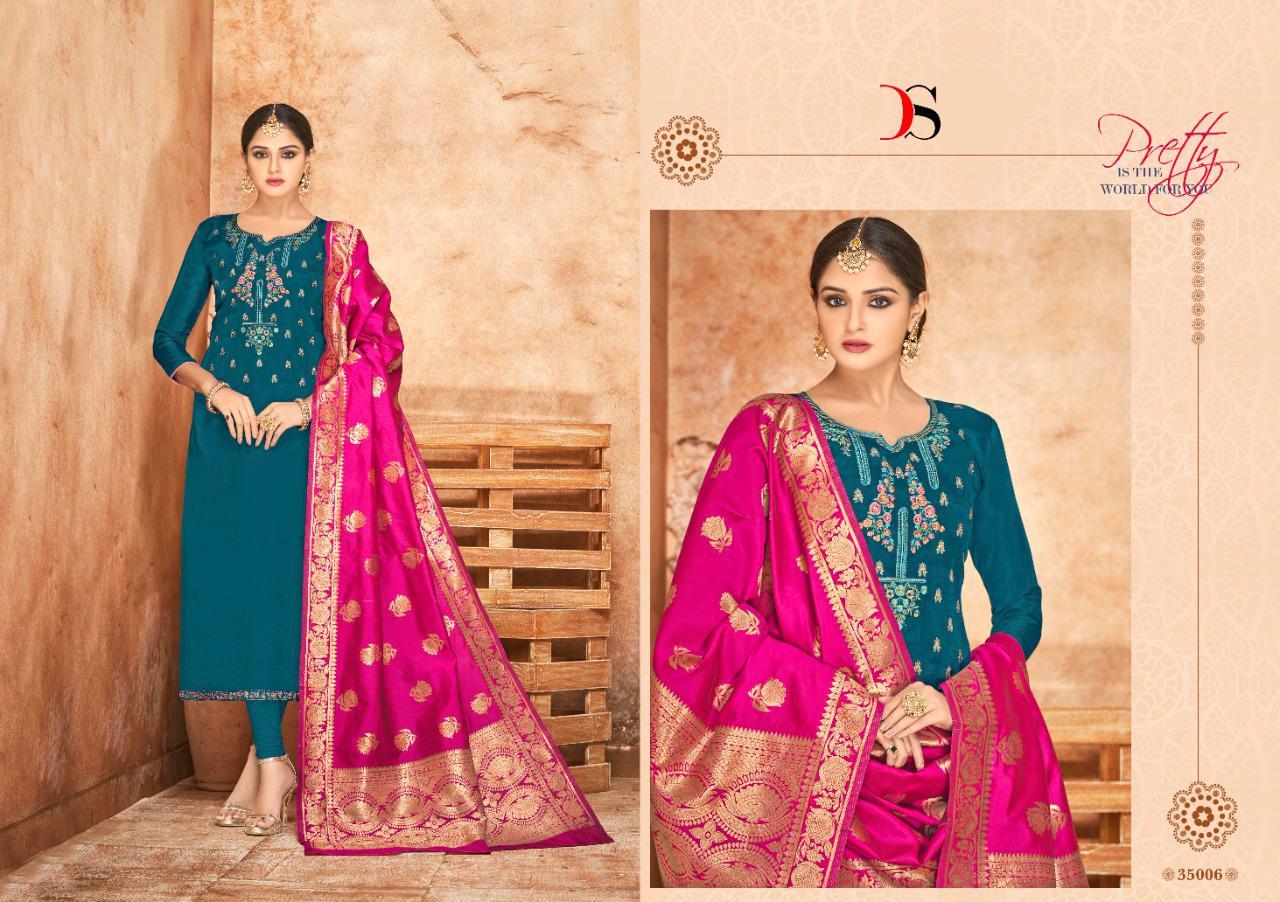Deepsy Sabiha Banaras Vol 2 Salwar Suit Wholesale Catalog 6 Pcs 4 - Deepsy Sabiha Banaras Vol 2 Salwar Suit Wholesale Catalog 6 Pcs