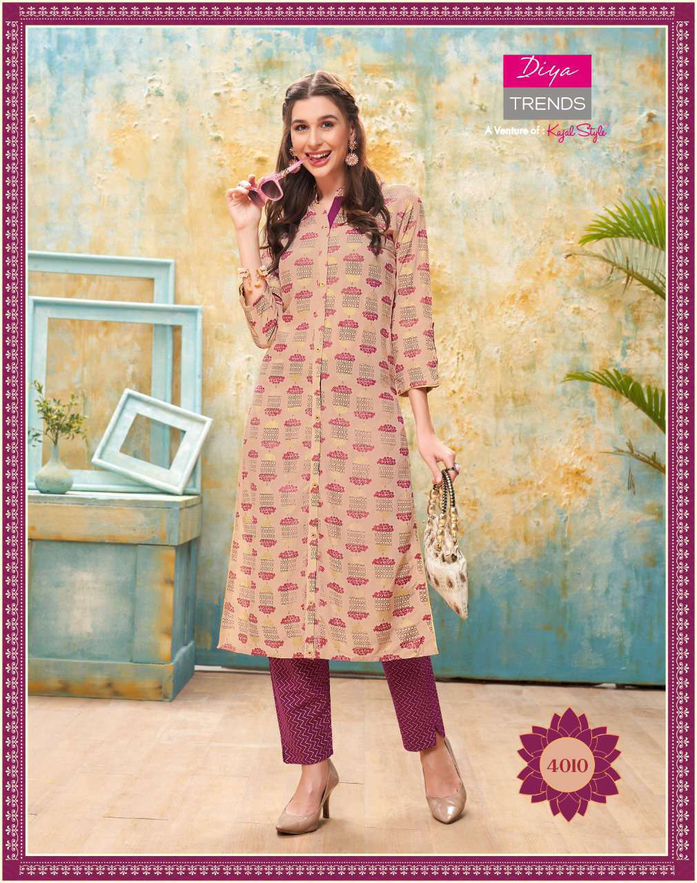 Diya Trends Forever Vol 4 by Kajal Style Kurti with Pant Wholesale Catalog 12 Pcs 11 - Diya Trends Forever Vol 4 by Kajal Style Kurti with Pant Wholesale Catalog 12 Pcs