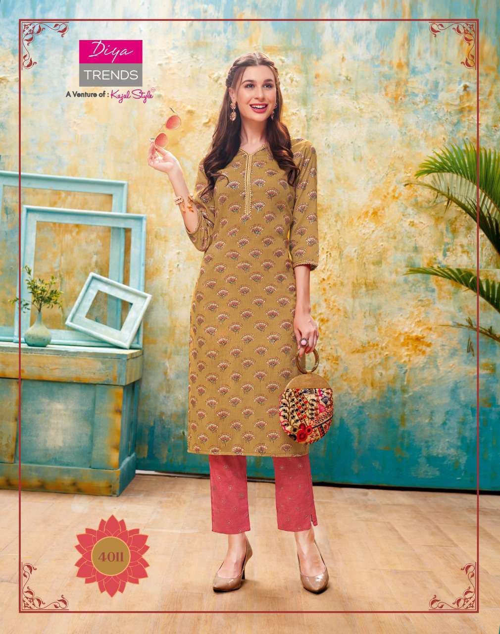 Diya Trends Forever Vol 4 by Kajal Style Kurti with Pant Wholesale Catalog 12 Pcs 12 - Diya Trends Forever Vol 4 by Kajal Style Kurti with Pant Wholesale Catalog 12 Pcs