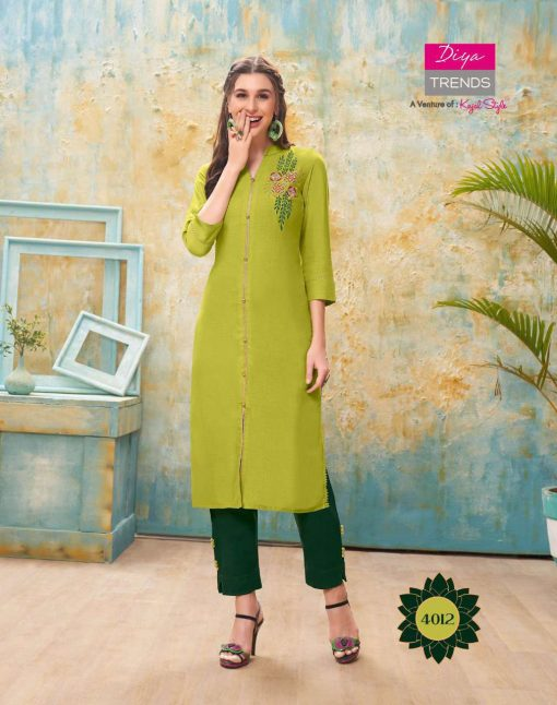 Diya Trends Forever Vol 4 by Kajal Style Kurti with Pant Wholesale Catalog 12 Pcs 13 510x646 - Diya Trends Forever Vol 4 by Kajal Style Kurti with Pant Wholesale Catalog 12 Pcs
