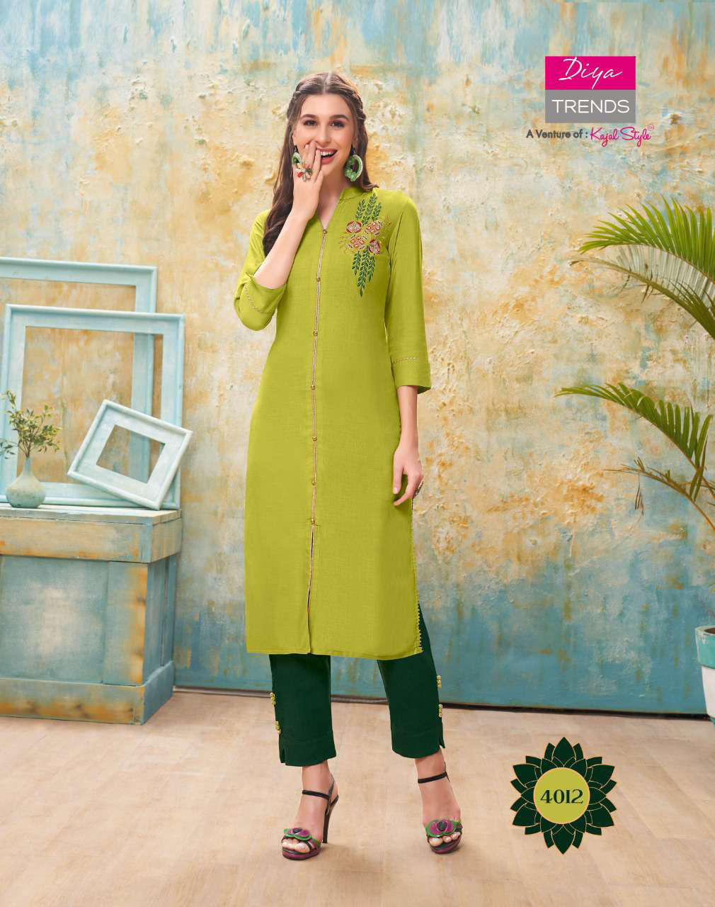 Diya Trends Forever Vol 4 by Kajal Style Kurti with Pant Wholesale Catalog 12 Pcs 13 - Diya Trends Forever Vol 4 by Kajal Style Kurti with Pant Wholesale Catalog 12 Pcs