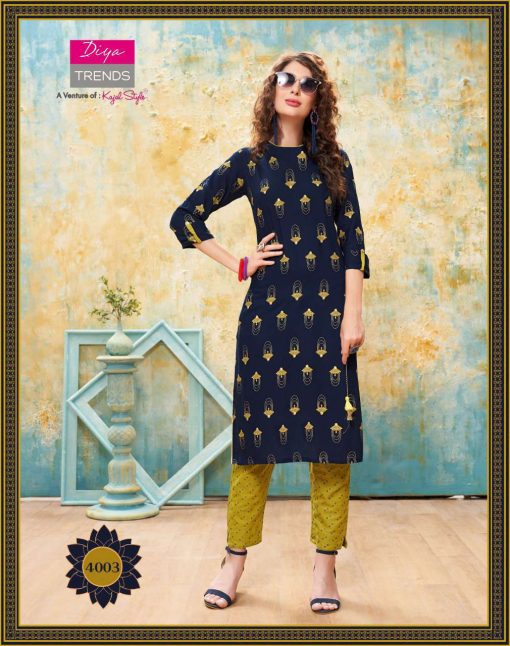 Diya Trends Forever Vol 4 by Kajal Style Kurti with Pant Wholesale Catalog 12 Pcs 4 510x646 - Diya Trends Forever Vol 4 by Kajal Style Kurti with Pant Wholesale Catalog 12 Pcs