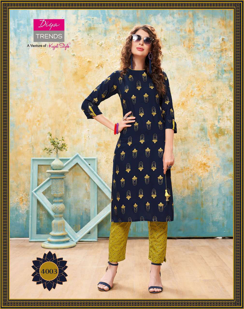 Diya Trends Forever Vol 4 by Kajal Style Kurti with Pant Wholesale Catalog 12 Pcs 4 - Diya Trends Forever Vol 4 by Kajal Style Kurti with Pant Wholesale Catalog 12 Pcs