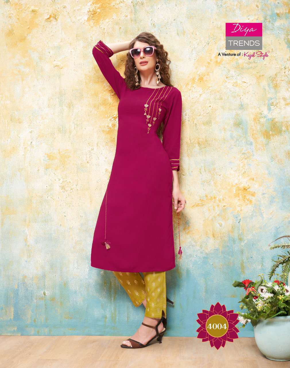 Diya Trends Forever Vol 4 by Kajal Style Kurti with Pant Wholesale Catalog 12 Pcs 5 - Diya Trends Forever Vol 4 by Kajal Style Kurti with Pant Wholesale Catalog 12 Pcs