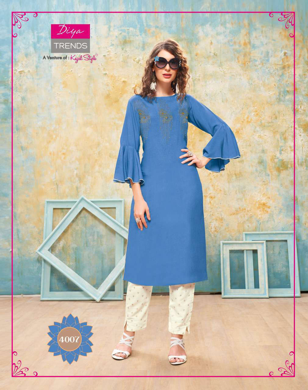 Diya Trends Forever Vol 4 by Kajal Style Kurti with Pant Wholesale Catalog 12 Pcs 8 - Diya Trends Forever Vol 4 by Kajal Style Kurti with Pant Wholesale Catalog 12 Pcs