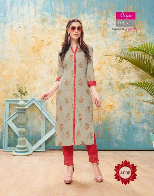 Diya Trends Forever Vol 4 by Kajal Style Kurti with Pant Wholesale Catalog 12 Pcs 9 510x646 - Diya Trends Forever Vol 4 by Kajal Style Kurti with Pant Wholesale Catalog 12 Pcs