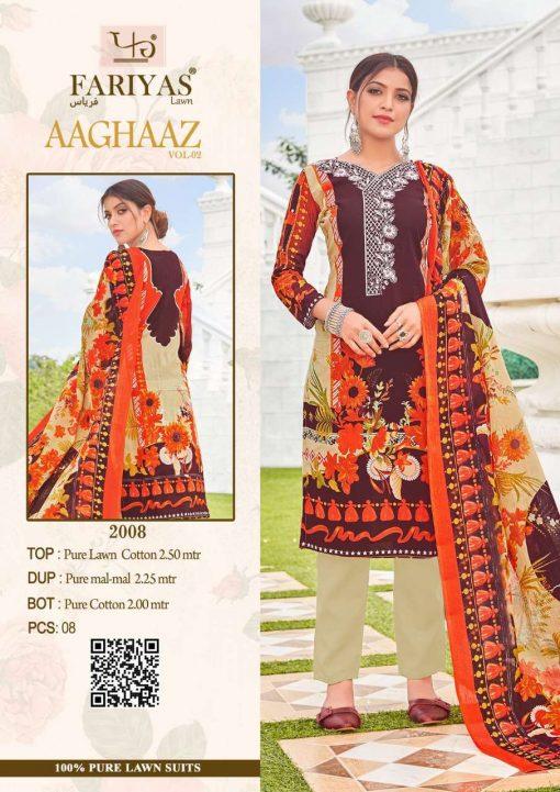 Fariyas Aaghaaz Vol 2 Salwar Suit Wholesale Catalog 8 Pcs 1 510x721 - Fariyas Aaghaaz Vol 2 Salwar Suit Wholesale Catalog 8 Pcs