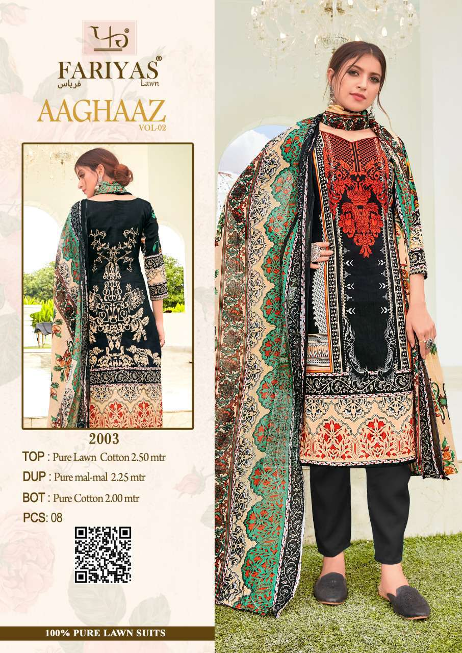 Fariyas Aaghaaz Vol 2 Salwar Suit Wholesale Catalog 8 Pcs 3 - Fariyas Aaghaaz Vol 2 Salwar Suit Wholesale Catalog 8 Pcs