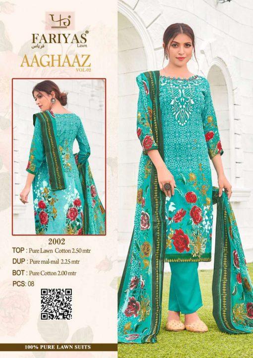 Fariyas Aaghaaz Vol 2 Salwar Suit Wholesale Catalog 8 Pcs 4 510x721 - Fariyas Aaghaaz Vol 2 Salwar Suit Wholesale Catalog 8 Pcs