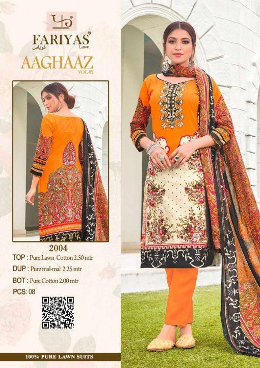 Fariyas Aaghaaz Vol 2 Salwar Suit Wholesale Catalog 8 Pcs 5 510x721 - Fariyas Aaghaaz Vol 2 Salwar Suit Wholesale Catalog 8 Pcs