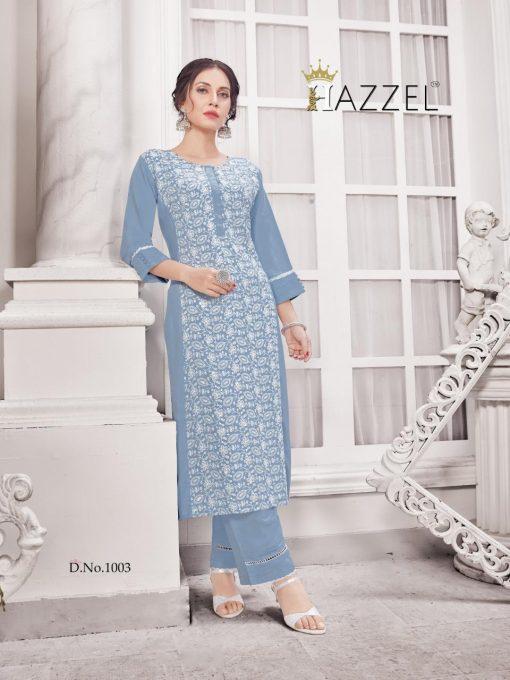 Hazzel Schiffli Lucknowi Kurti with Pant Wholesale Catalog 5 Pcs 4 510x680 - Hazzel Schiffli Lucknowi Kurti with Pant Wholesale Catalog 5 Pcs