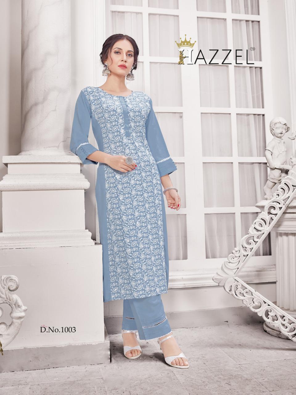 Hazzel Schiffli Lucknowi Kurti with Pant Wholesale Catalog 5 Pcs 4 - Hazzel Schiffli Lucknowi Kurti with Pant Wholesale Catalog 5 Pcs