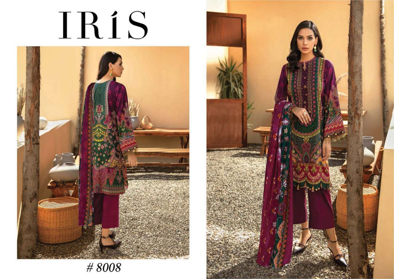 Iris Vol 8 Karachi Cotton Salwar Suit Wholesale Catalog 10 Pcs 11 - Iris Vol 8 Karachi Cotton Salwar Suit Wholesale Catalog 10 Pcs
