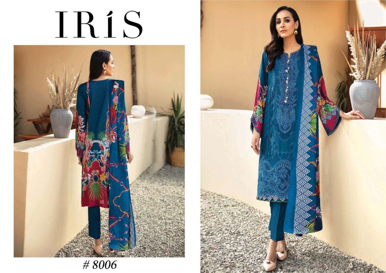 Iris Vol 8 Karachi Cotton Salwar Suit Wholesale Catalog 10 Pcs 13 - Iris Vol 8 Karachi Cotton Salwar Suit Wholesale Catalog 10 Pcs
