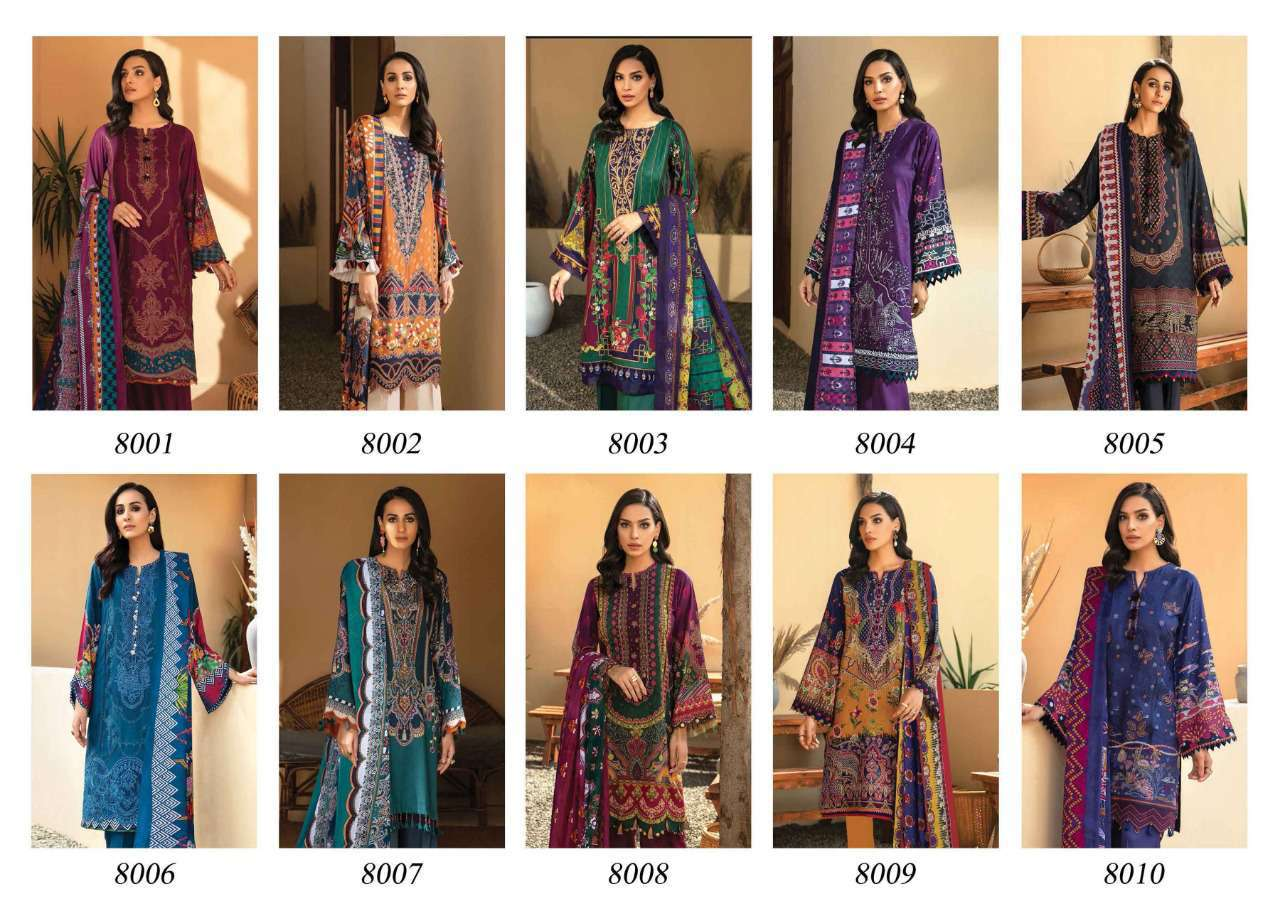 Iris Vol 8 Karachi Cotton Salwar Suit Wholesale Catalog 10 Pcs 14 - Iris Vol 8 Karachi Cotton Salwar Suit Wholesale Catalog 10 Pcs
