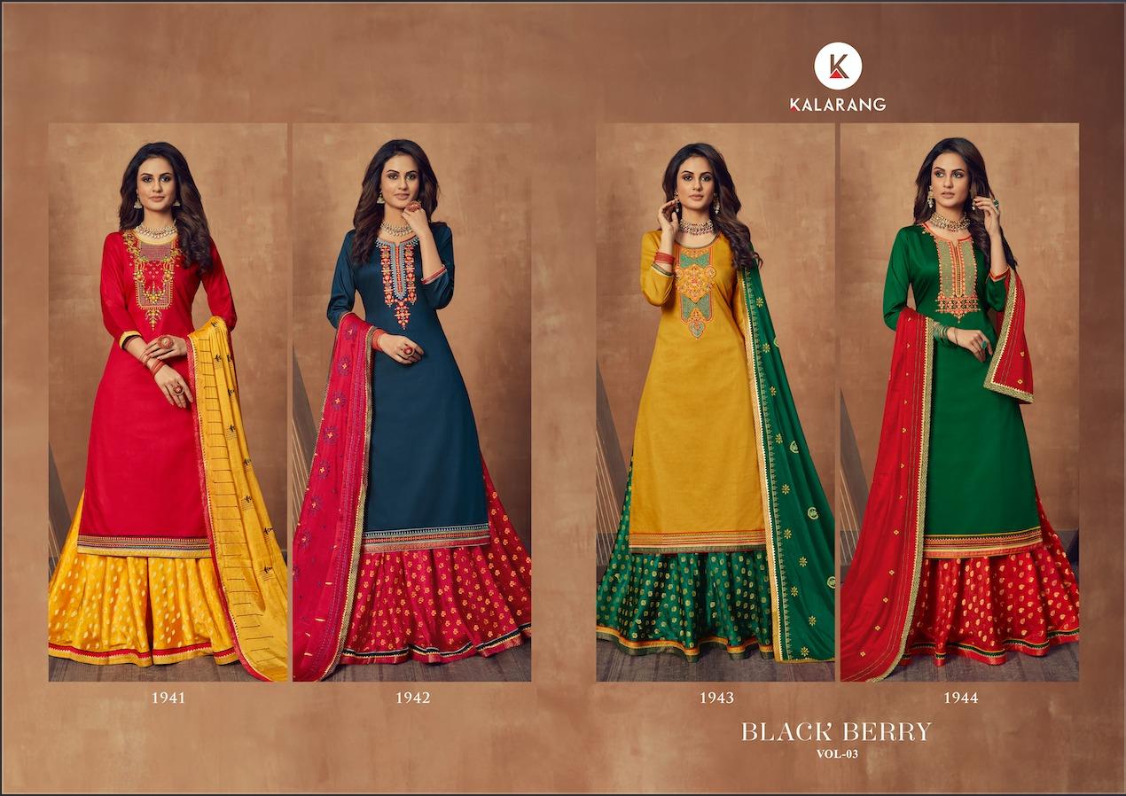 Kalarang Black Berry Vol 3 by Kessi Salwar Suit Wholesale Catalog 4 Pcs 6 - Kalarang Black Berry Vol 3 by Kessi Salwar Suit Wholesale Catalog 4 Pcs