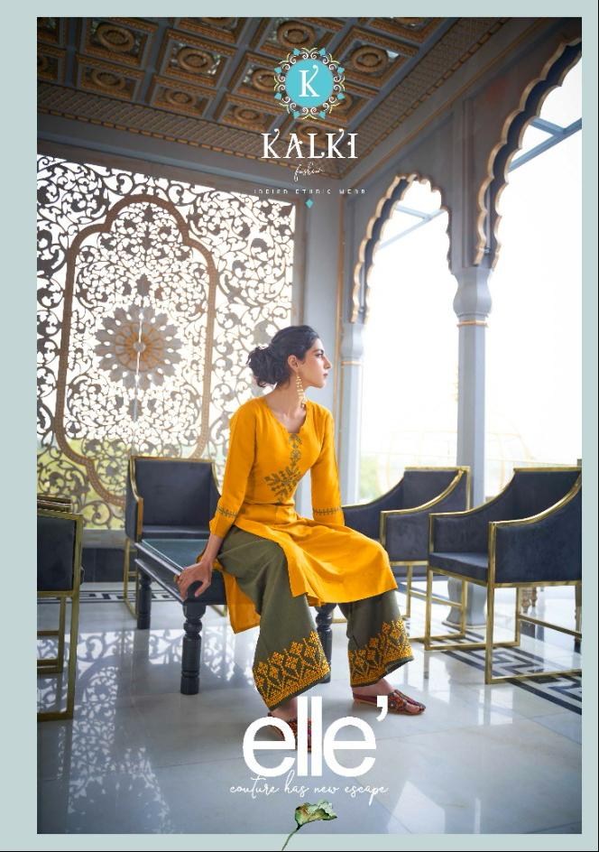 Kalki Elle Kurti with Palazzo Wholesale Catalog 6 Pcs 3 - Kalki Elle Kurti with Palazzo Wholesale Catalog 6 Pcs