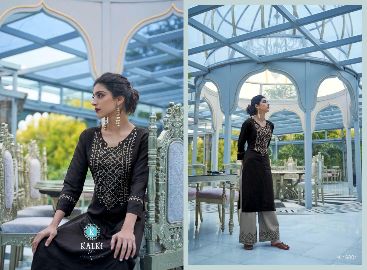 Kalki Elle Kurti with Palazzo Wholesale Catalog 6 Pcs 5 - Kalki Elle Kurti with Palazzo Wholesale Catalog 6 Pcs