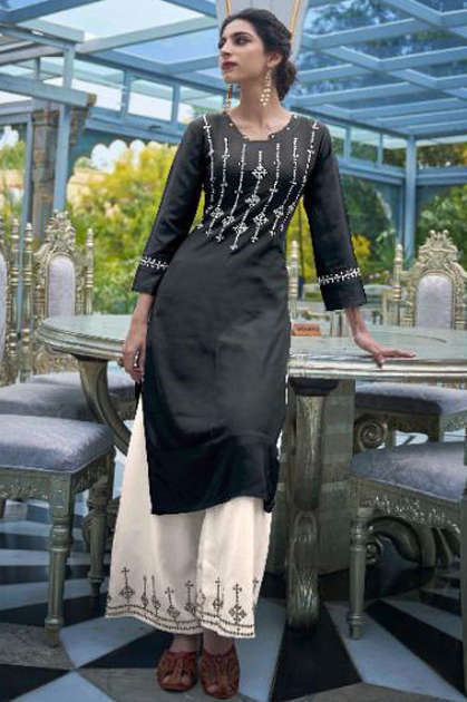 Kalki Elle Kurti with Palazzo Wholesale Catalog 6 Pcs