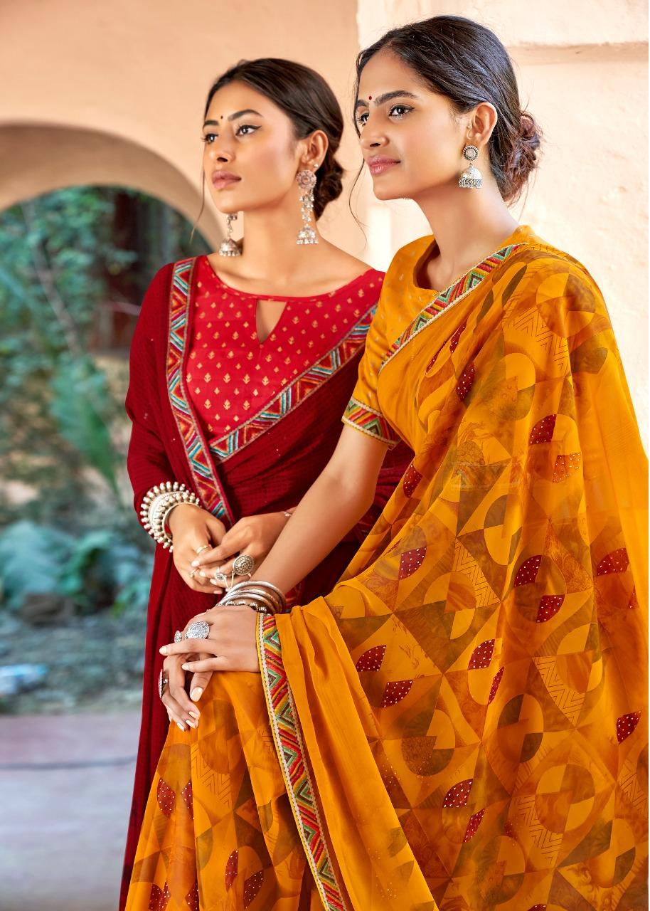 Kashvi Sadhna by Lt Fabrics Saree Sari Wholesale Catalog 10 Pcs 12 - Kashvi Sadhna by Lt Fabrics Saree Sari Wholesale Catalog 10 Pcs