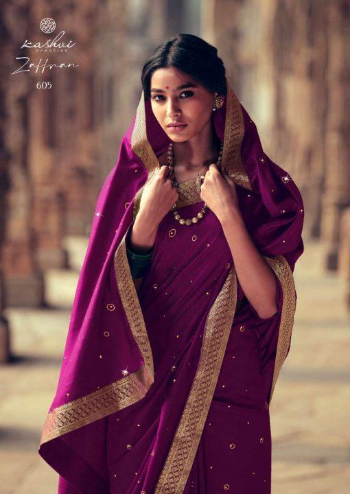 Kashvi Zaffran by Lt Fabrics Saree Sari Wholesale Catalog 10 Pcs 11 510x720 - Kashvi Zaffran by Lt Fabrics Saree Sari Wholesale Catalog 10 Pcs