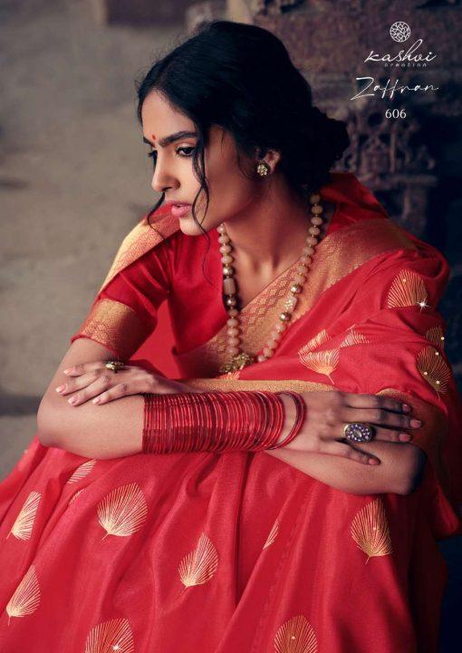 Kashvi Zaffran by Lt Fabrics Saree Sari Wholesale Catalog 10 Pcs 14 510x720 - Kashvi Zaffran by Lt Fabrics Saree Sari Wholesale Catalog 10 Pcs