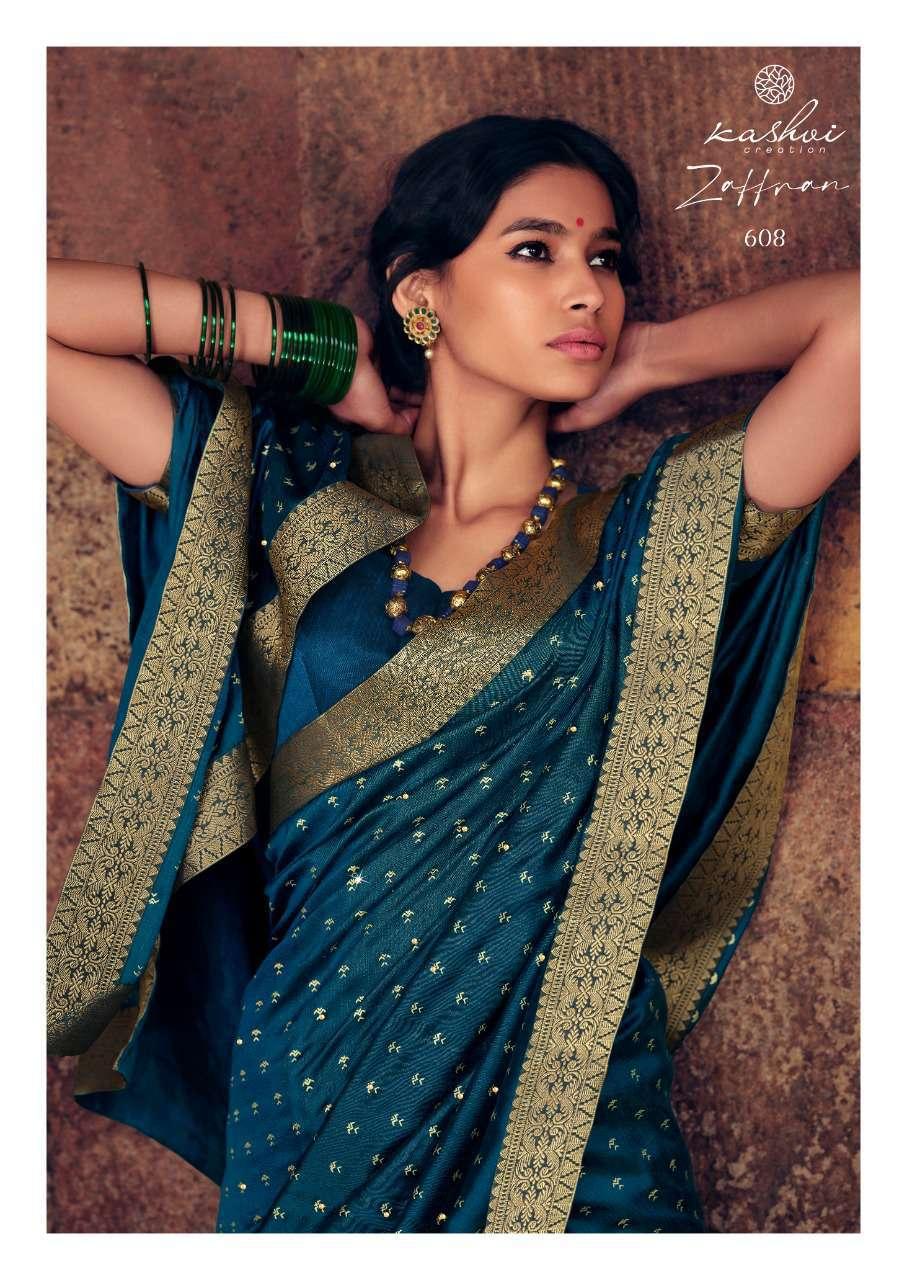 Kashvi Zaffran by Lt Fabrics Saree Sari Wholesale Catalog 10 Pcs 15 - Kashvi Zaffran by Lt Fabrics Saree Sari Wholesale Catalog 10 Pcs