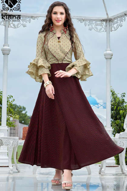 Kiana Crown Vol 2 Kurti Wholesale Catalog 4 Pcs - Kiana Crown Vol 2 Kurti Wholesale Catalog 4 Pcs