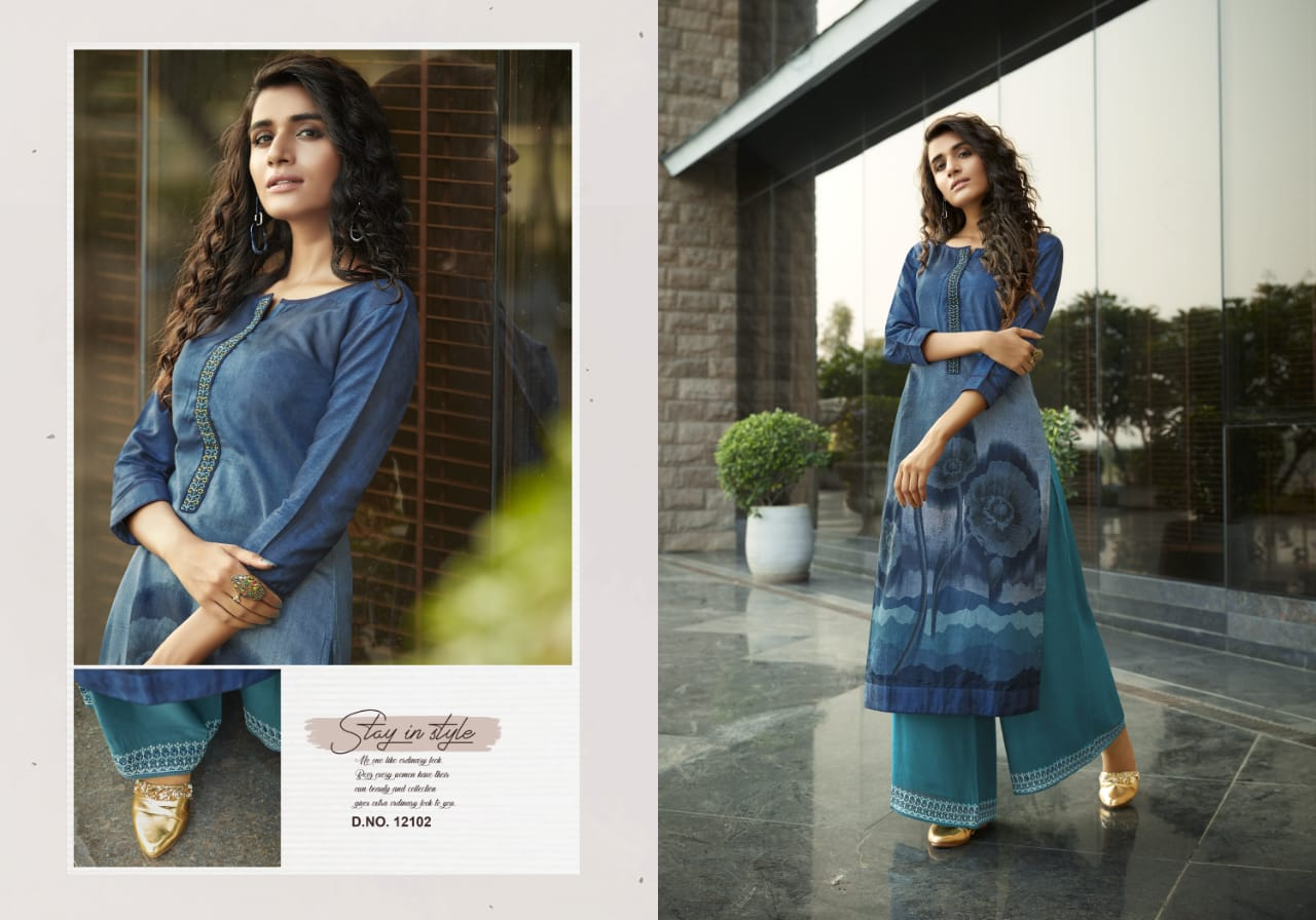 Kivi Fashion Fiesta Vol 4 by Kajree Kurti with Palazzo Wholesale Catalog 6 Pcs 1 - Kivi Fashion Fiesta Vol 4 by Kajree Kurti with Palazzo Wholesale Catalog 6 Pcs