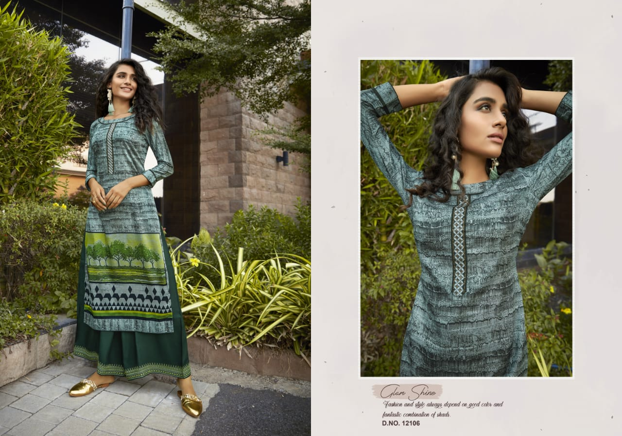 Kivi Fashion Fiesta Vol 4 by Kajree Kurti with Palazzo Wholesale Catalog 6 Pcs 4 - Kivi Fashion Fiesta Vol 4 by Kajree Kurti with Palazzo Wholesale Catalog 6 Pcs