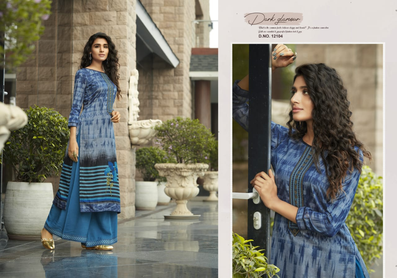 Kivi Fashion Fiesta Vol 4 by Kajree Kurti with Palazzo Wholesale Catalog 6 Pcs 5 - Kivi Fashion Fiesta Vol 4 by Kajree Kurti with Palazzo Wholesale Catalog 6 Pcs