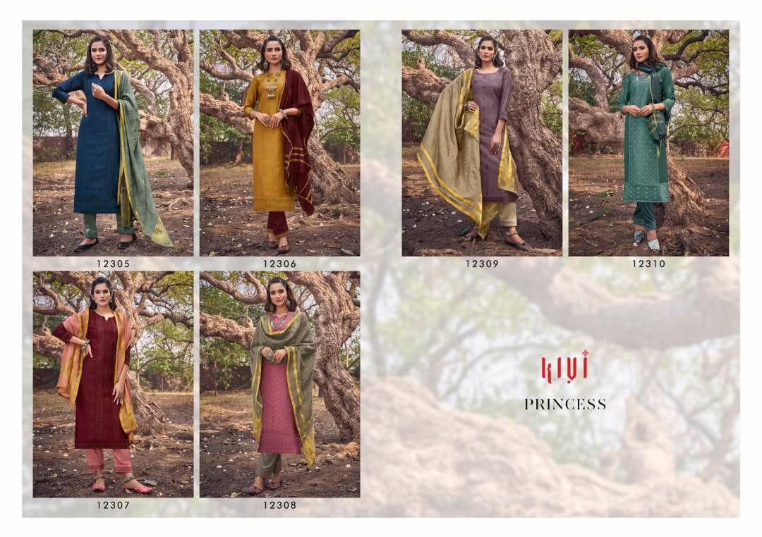 Kivi Princess by Kajree Kurti with Dupatta Bottom Wholesale Catalog 6 Pcs 9 - Kivi Princess by Kajree Kurti with Dupatta Bottom Wholesale Catalog 6 Pcs