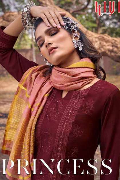 Kivi Princess by Kajree Kurti with Dupatta Bottom Wholesale Catalog 6 Pcs