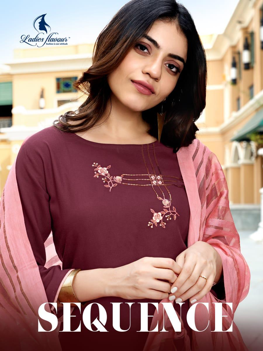 Ladies Flavour Sequence Kurti with Dupatta Bottom Wholesale Catalog 8 Pcs 1 - Ladies Flavour Sequence Kurti with Dupatta Bottom Wholesale Catalog 8 Pcs