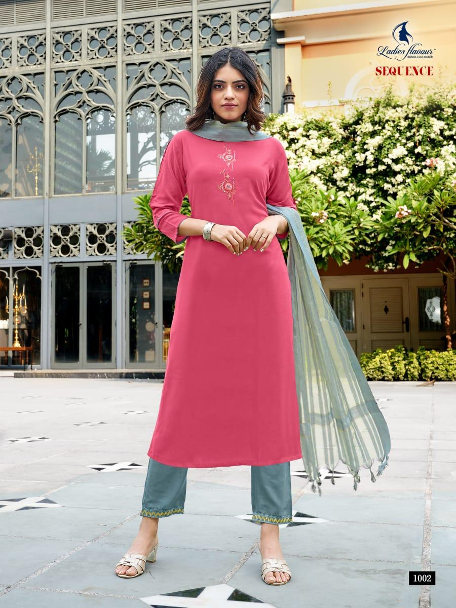 Ladies Flavour Sequence Kurti with Dupatta Bottom Wholesale Catalog 8 Pcs 10 - Ladies Flavour Sequence Kurti with Dupatta Bottom Wholesale Catalog 8 Pcs