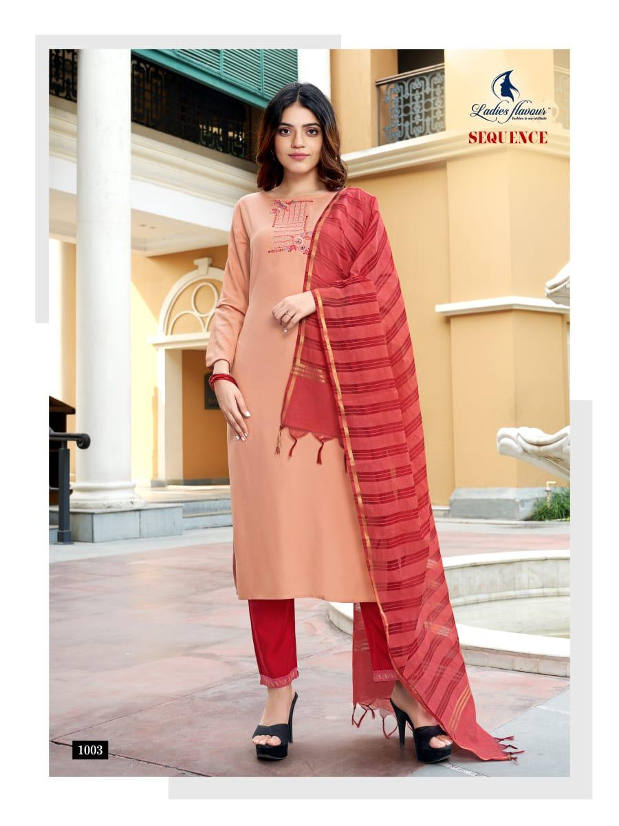Ladies Flavour Sequence Kurti with Dupatta Bottom Wholesale Catalog 8 Pcs 11 - Ladies Flavour Sequence Kurti with Dupatta Bottom Wholesale Catalog 8 Pcs