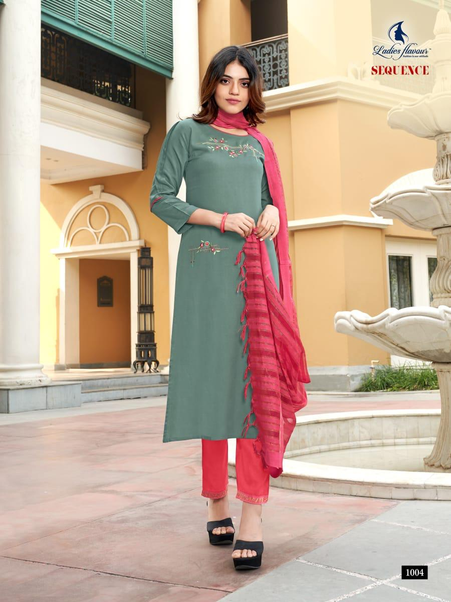 Ladies Flavour Sequence Kurti with Dupatta Bottom Wholesale Catalog 8 Pcs 13 - Ladies Flavour Sequence Kurti with Dupatta Bottom Wholesale Catalog 8 Pcs