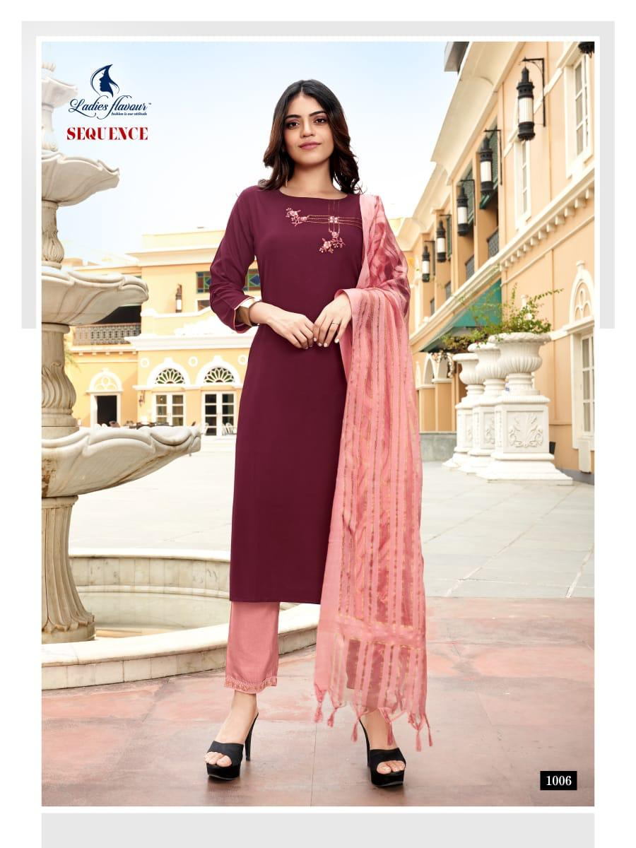 Ladies Flavour Sequence Kurti with Dupatta Bottom Wholesale Catalog 8 Pcs 17 - Ladies Flavour Sequence Kurti with Dupatta Bottom Wholesale Catalog 8 Pcs