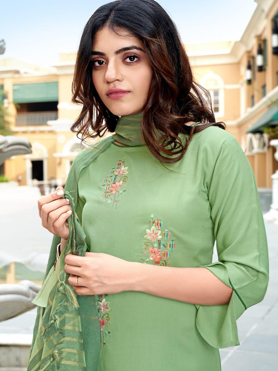 Ladies Flavour Sequence Kurti with Dupatta Bottom Wholesale Catalog 8 Pcs 5 - Ladies Flavour Sequence Kurti with Dupatta Bottom Wholesale Catalog 8 Pcs