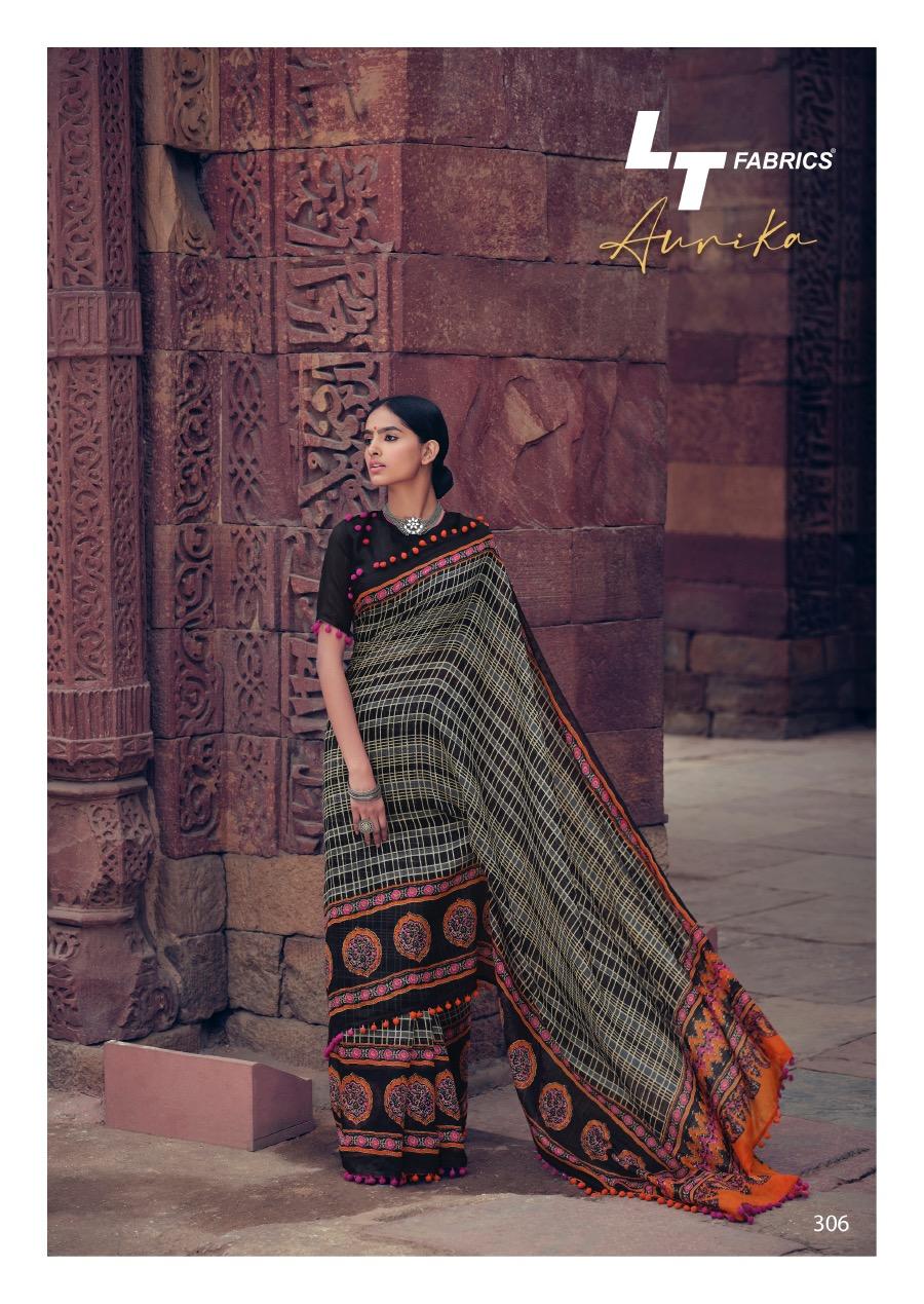 Lt Fabrics Aurika Saree Sari Wholesale Catalog 10 Pcs 14 - Lt Fabrics Aurika Saree Sari Wholesale Catalog 10 Pcs