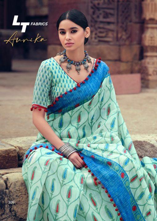 Lt Fabrics Aurika Saree Sari Wholesale Catalog 10 Pcs 17 510x719 - Lt Fabrics Aurika Saree Sari Wholesale Catalog 10 Pcs