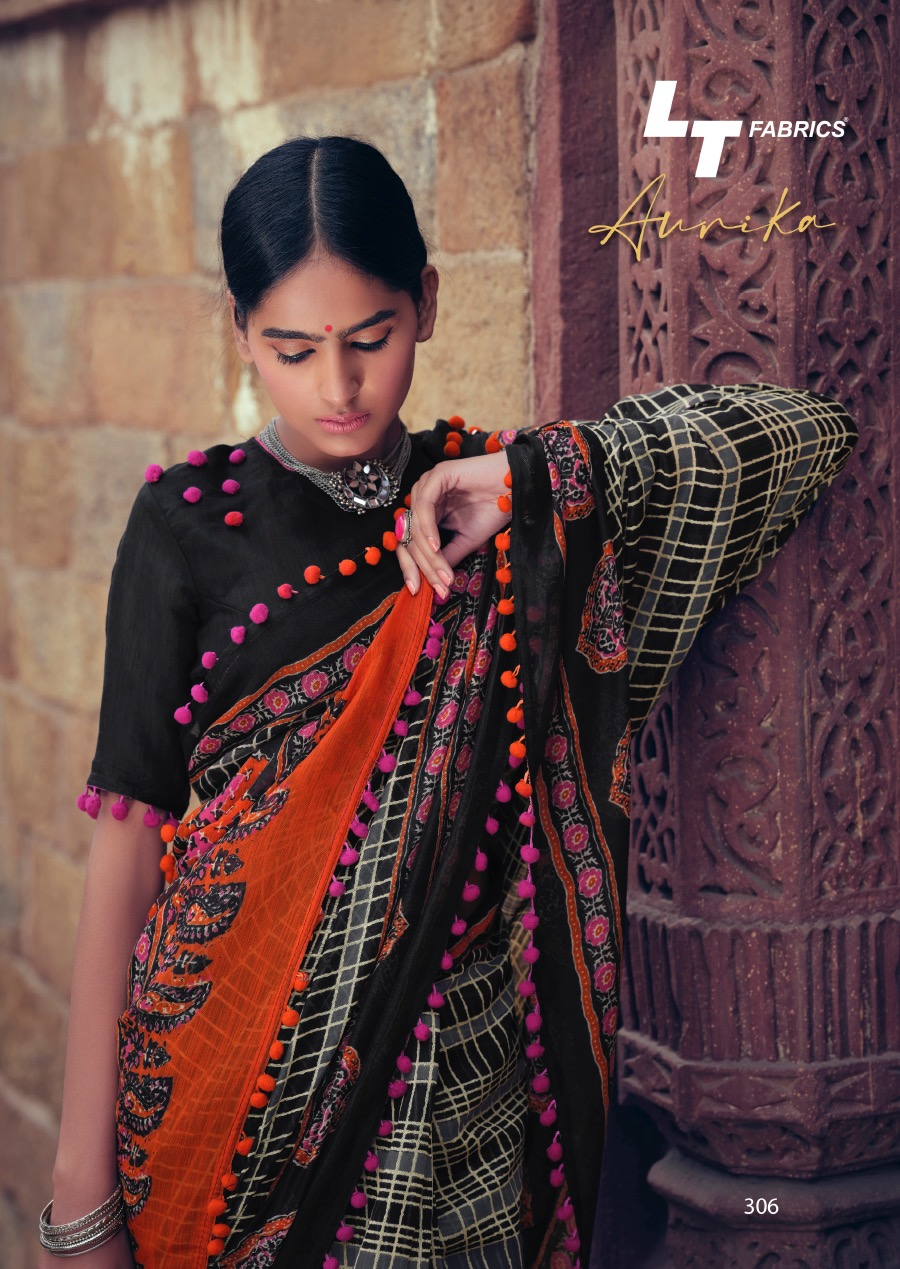 Lt Fabrics Aurika Saree Sari Wholesale Catalog 10 Pcs 9 - Lt Fabrics Aurika Saree Sari Wholesale Catalog 10 Pcs