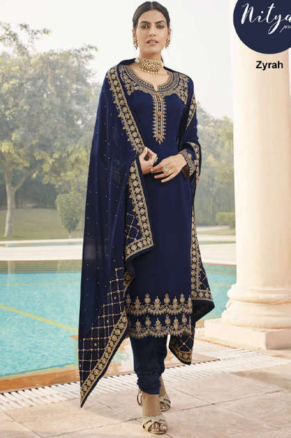 Lt Fabrics Nitya Zyrah Salwar Suit Wholesale Catalog 5 Pcs